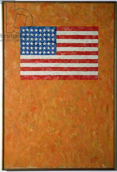 Flag on Orange Field, 1957 (oil on canvas)