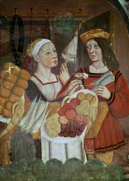 The Vegetable Market (fresco) (detail)