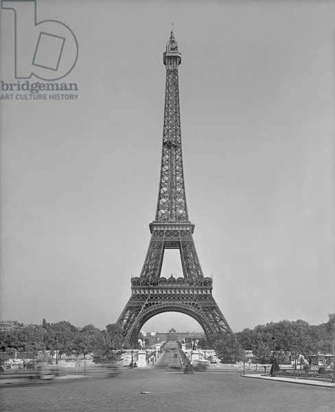 The Eiffel tower, 1887-89 (b/w photo)
