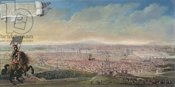 General View of Paris from the Faubourg Saint-Jacques, c.1640 (oil on canvas)