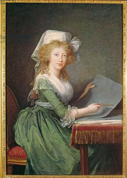 Marie-Louise of Bourbon-Sicily (1773-1802) 1790 (oil on canvas)
