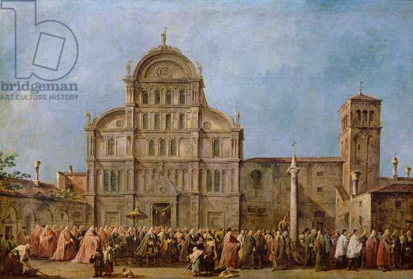 Easter Procession of the Doge of Venice at the Church of San Zaccaria, c.1766-70 (oil on canvas)
