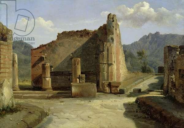 The Forum of Pompeii (oil on canvas)