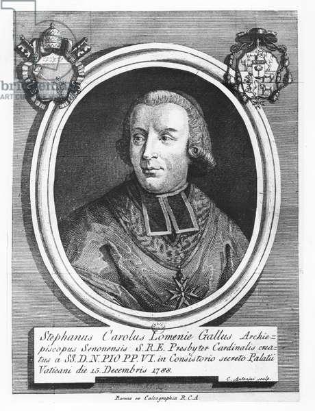 Étienne-Charles of Loménie de Brienne (engraving)
