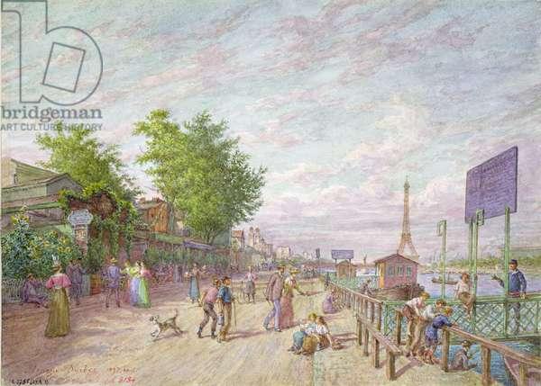Quai du Point du Jour, Boulogne Billancourt, 1897 (w/c on paper)