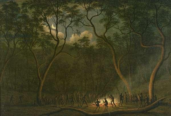 Aboriginal Coroboree in Van Diemen's Land (oil on canvas)