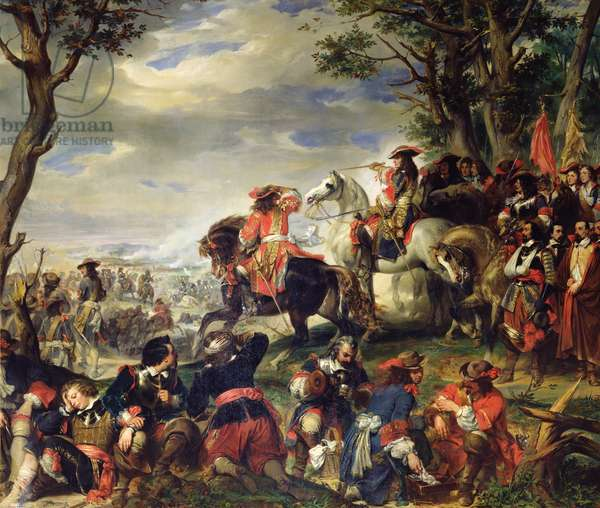 Battle of Marseilles, 4th October 1693, 1837 (oil on canvas)