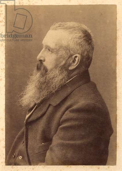 Claude Monet (1841-1926) early 20th century (albumen print) (b/w photo)