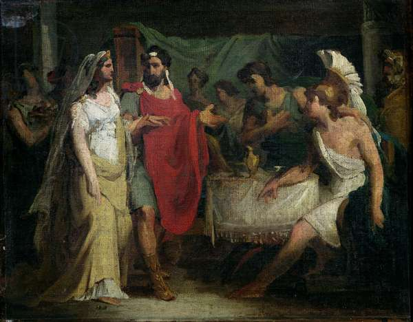 The Wedding of Alexander the Great (356-323 BC) and Roxana, 1810 (oil on canvas)