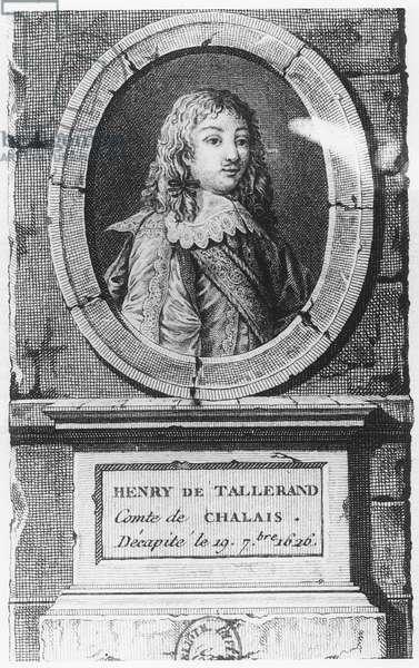 Henri de Talleyrand, Count of Chalais (engraving)