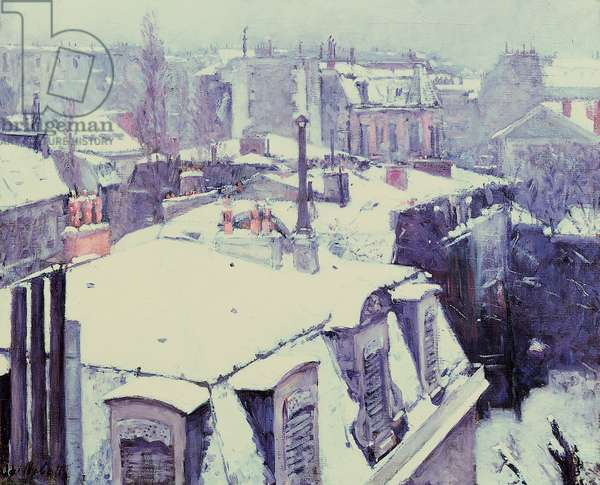 View of Roofs (Snow Effect) or Roofs under Snow, 1878 (oil on canvas)