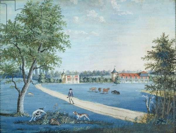 Hunting in the Parc du Raincy, c.1754-93 (gouache on paper)
