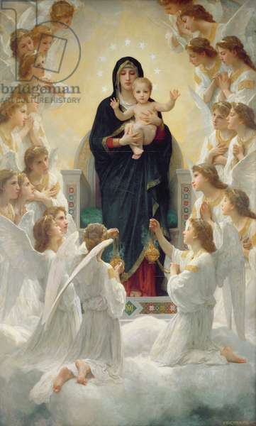 The Virgin with Angels, 1900 (oil on canvas)