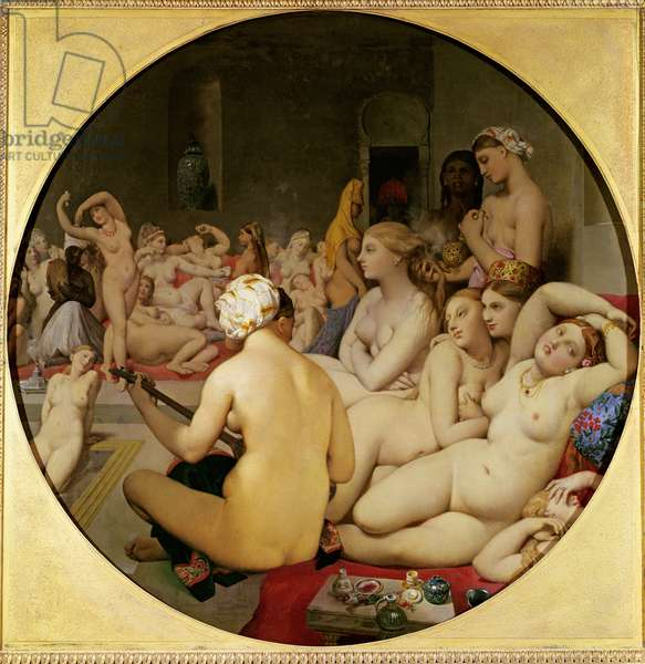 The Turkish Bath, 1863 (oil on canvas) (see also 429034)