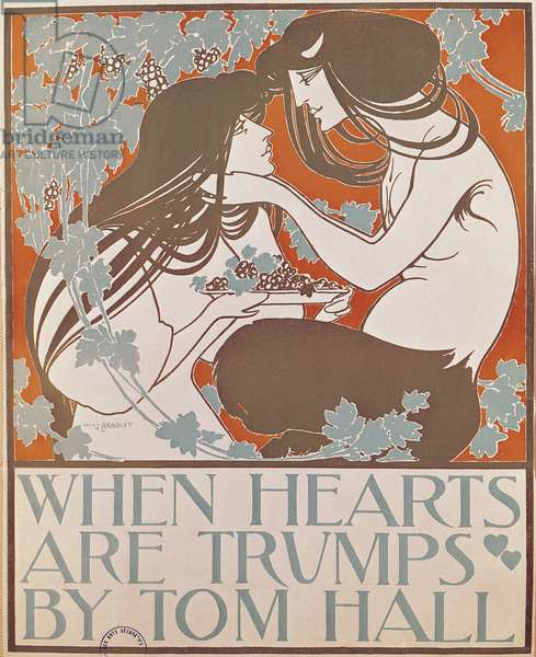 'When Hearts Are Trumps' by Tom Hall (colour litho)