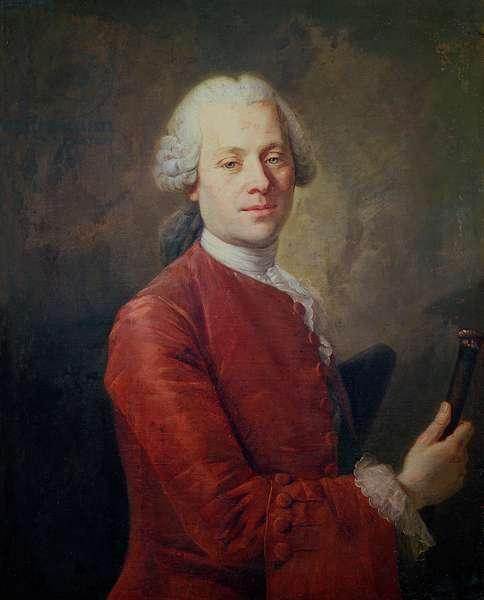 Portrait of Jean le Rond d'Alembert (1717-83) (oil on canvas)