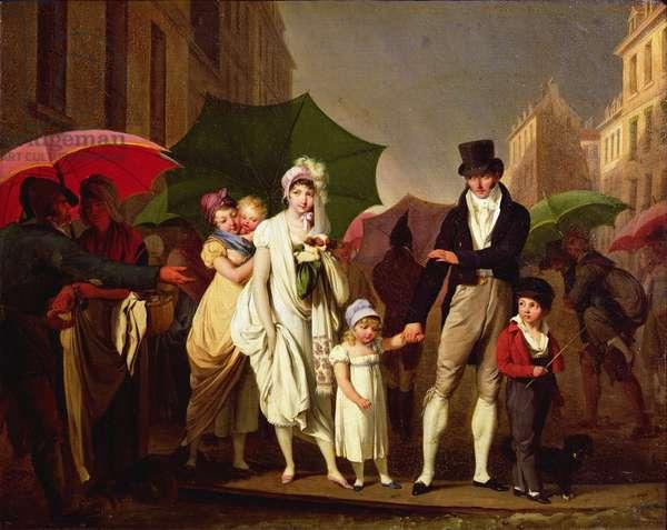 The Downpour (oil on canvas)