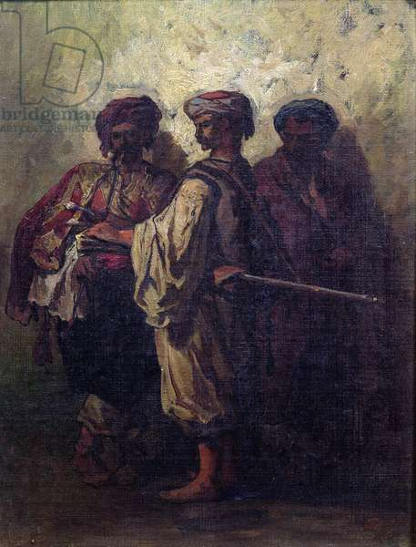 Bulgarian Soldiers (oil on canvas)