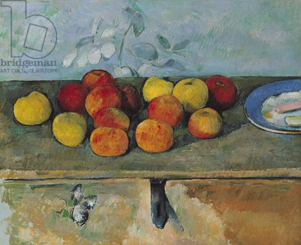 Still life of apples and biscuits, 1880-82 (oil on canvas)
