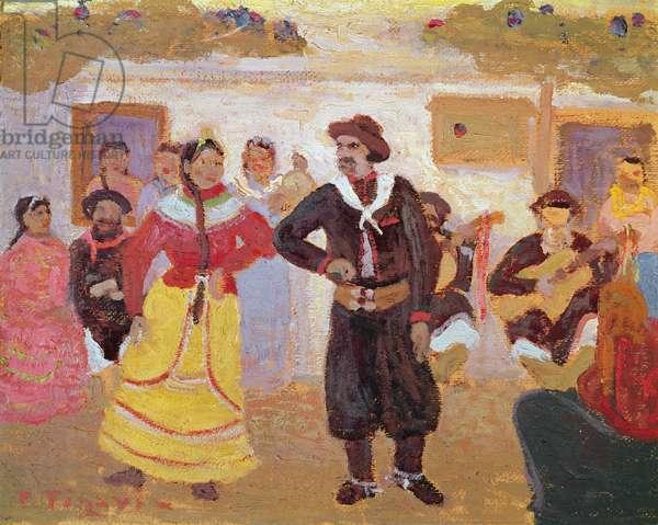 Gaucho Dance (oil on canvas)