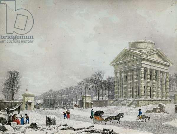 The Barriere des Champs-Elysees, 1808 (aquatint)