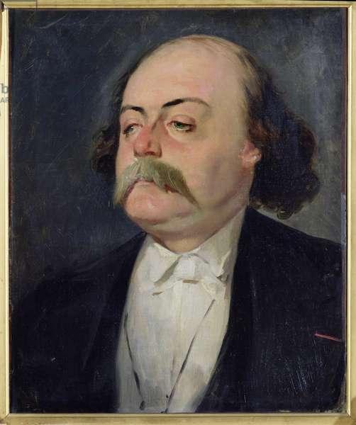 Portrait of Gustave Flaubert (1821-80) 1868-81 (oil on canvas)