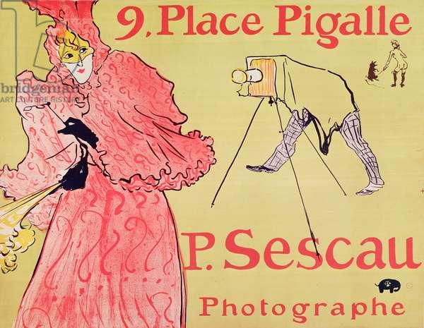 P. Sescau Photographe (poster), 1894 (five colour print lithograph with brush, crayon and spatter technique)