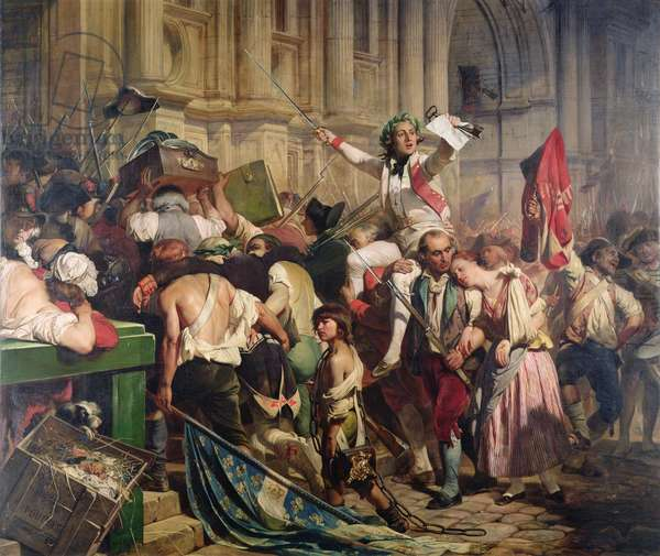 The Conquerors of the Bastille before the Hotel de Ville in 1789, 1839 (oil on canvas)