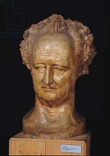 Bust of Johann Wolfgang von Goethe (1749-1832), 1831 (plaster)