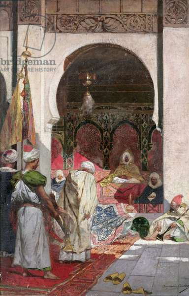 The attendance of a lord, 19th century, (oil on canvas)