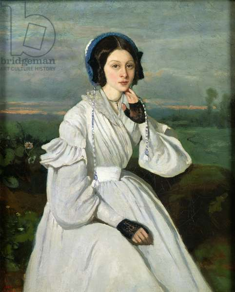 Portrait of Louise Claire Sennegon, future Madame Charmois, 1837 (oil on canvas)