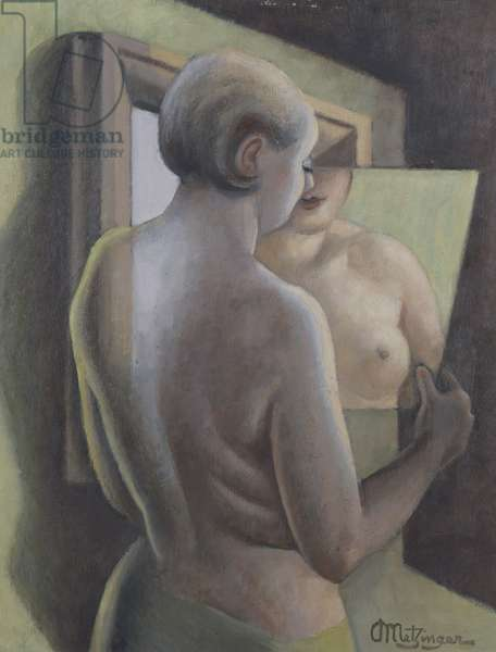 The Mirror (oil on canvas)