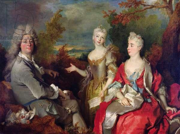 Family Portrait, c.1710 (oil on canvas)