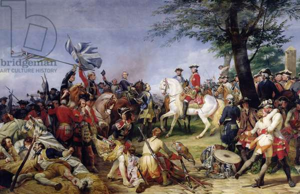 The Battle of Fontenoy, 11th May 1745, 1828 (oil on canvas)