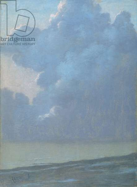 Clouds over the Sea (pastel on paper)