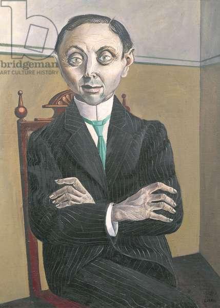 Portrait of Paul F. Schmidt, 1921 (oil on canvas)