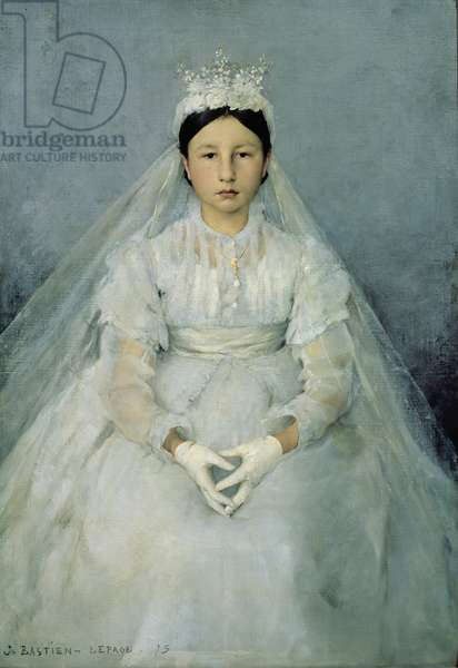 The Young Communicant, 1875 (oil on canvas)