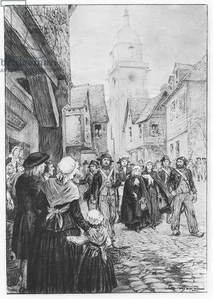 The Arrest of Lucile de Chateaubriand (litho)