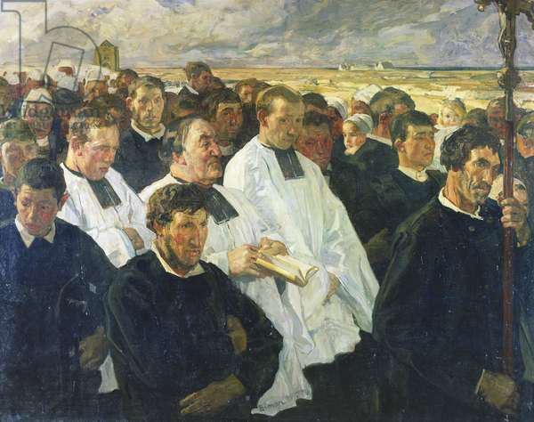 Procession to Penmarch, 1900 (oil on canvas)