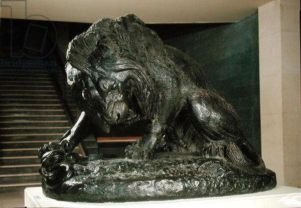 Lion and Snake (bronze)