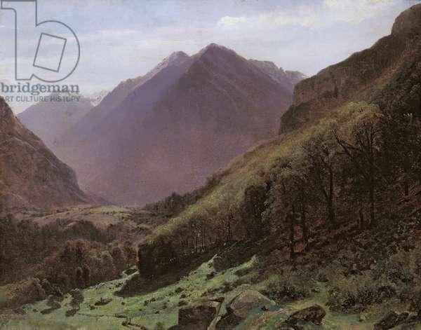 Mountain Study, c.1840-43 (oil on panel)