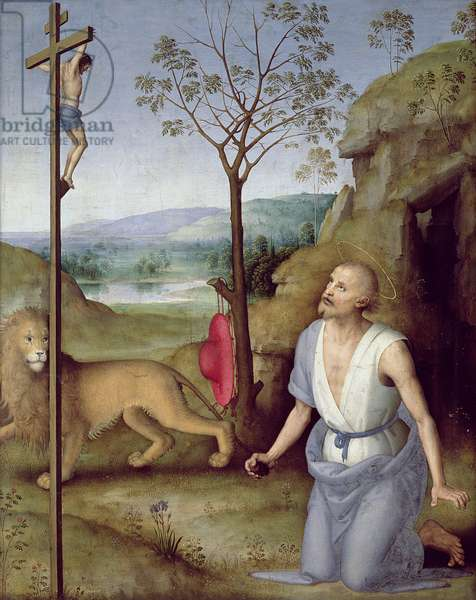 St. Jerome in the Desert, c.1499-1502 (oil on panel)