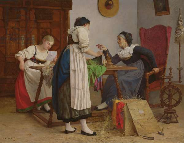 The letter from Tonkin, 1898 (oil on canvas)