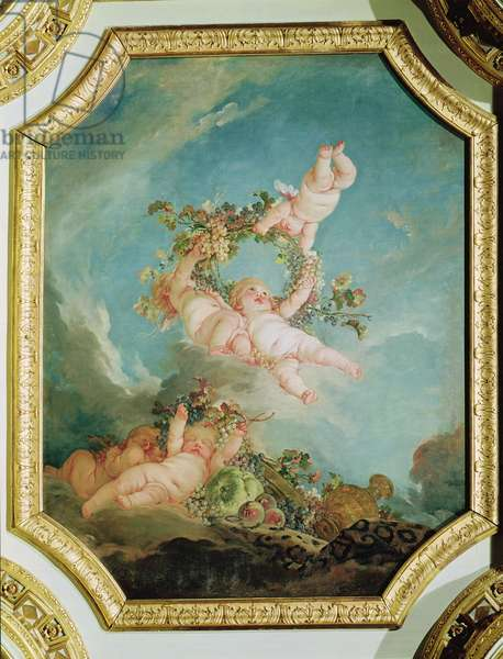 Autumn, from a series of the Four Seasons in the Salle du Conseil (oil on canvas)