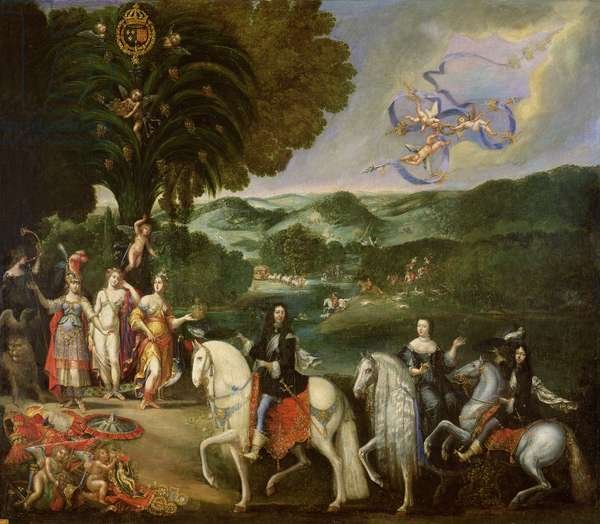 Allegory of the Marriage of Louis XIV (1638-1715) in 1631 (oil on canvas)