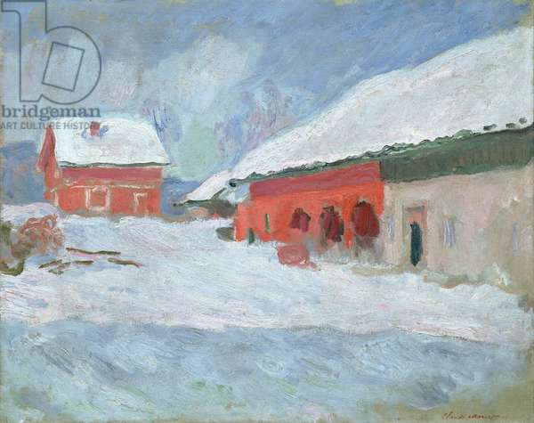 Norway, Red Houses at Bjornegaard, 1895 (oil on canvas)