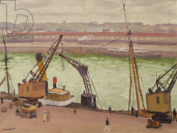 The Port of Boulogne-sur-Mer, 1930 (oil on canvas)