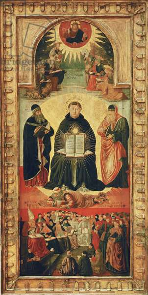 The Triumph of St. Thomas Aquinas (tempera on panel)