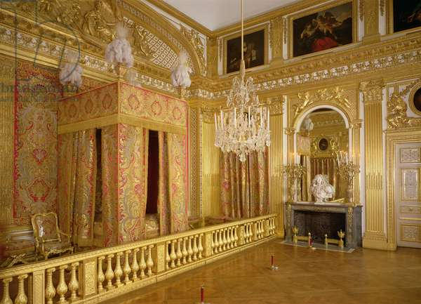 Interior of Louis XIV's bedroom, 1701-23 (photo)