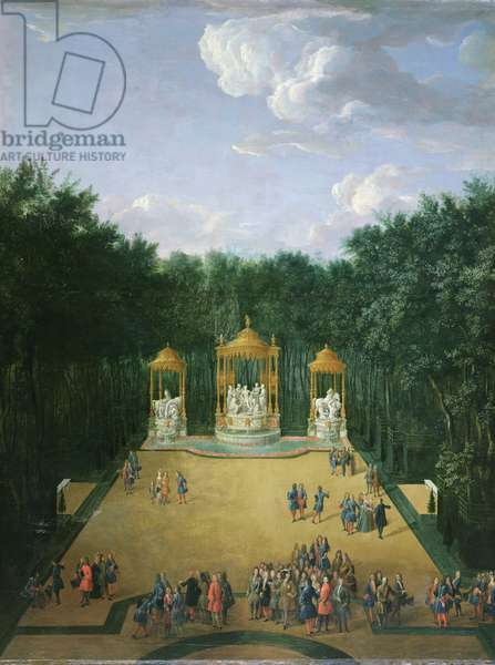 The Groves of the Baths of Apollo in the Gardens of Versailles, 1713 (oil on canvas)